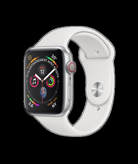 Apple Watch 4 GPS 44mm Viền Nhôm – Dây Cao Su – Chính Hãng Mới 100%