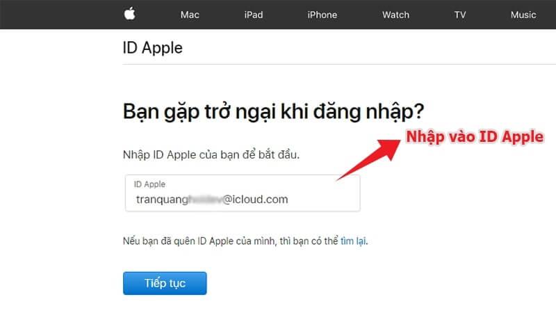 các bước thay đổi mật khẩu apple id