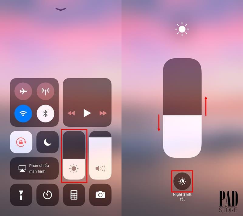 cách chỉnh độ sáng màn hình iphone