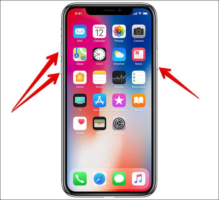 cách khởi động lại iphone xs max
