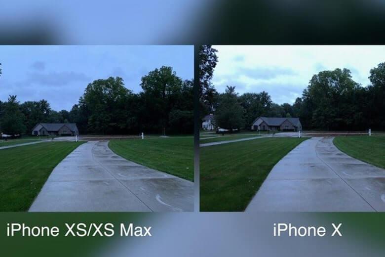 so sánh camera iphone x và xs max