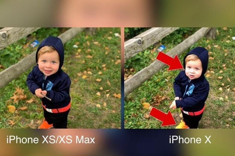 so sánh camera iphone xs max và x