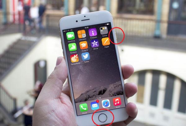 chup man hinh iphone