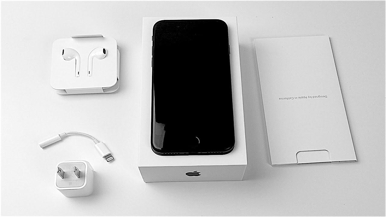iphone 7 matte black unboxing