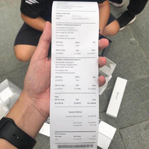 hóa đơn bảo hành iphone xách tay