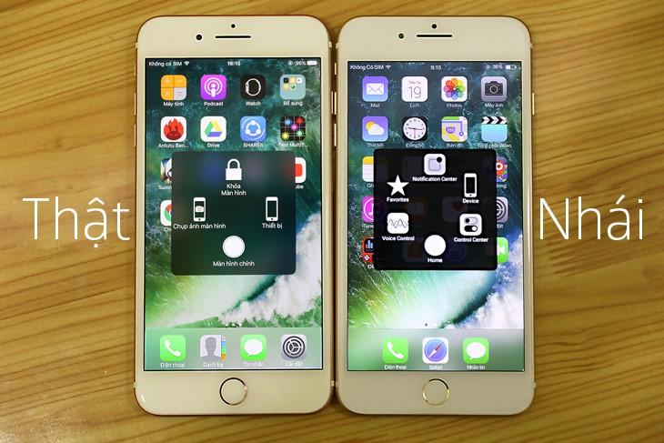 khác nhau giữa iphone 7 hàng giả và hàng thật