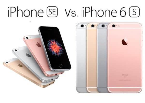 iphone se và iphone 6s nên lựa chọn iphone nào