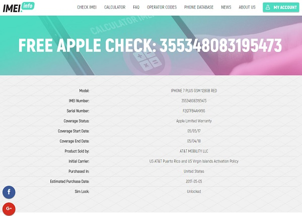 kiểm tra imei apple