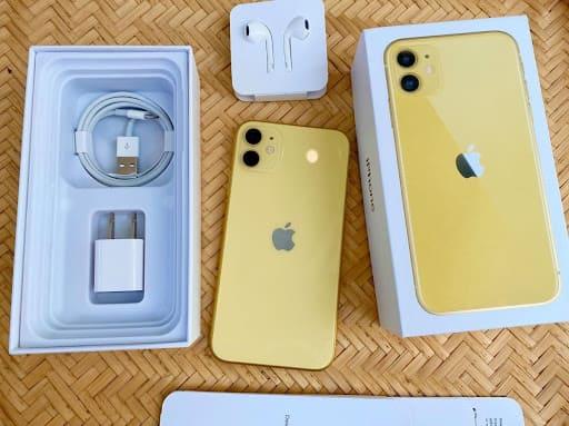 màu vàng trên iPhone 11