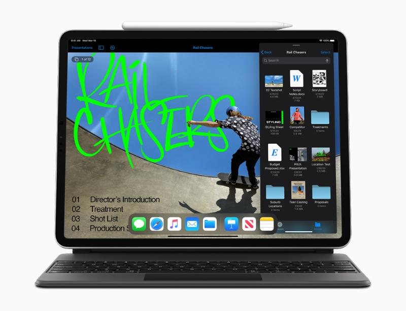 Máy tính bảng iPad Pro 2020 với hệ điều hành iPadOS tối ưu cho đa nhiệm