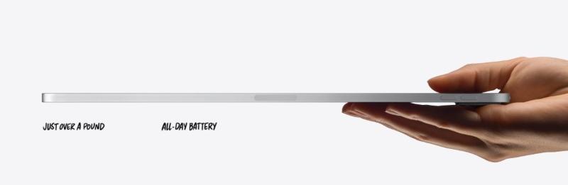 Máy tính bảng iPad Pro với thiết kế mỏng nhẹ ấn tượng
