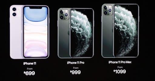 mức giá cấu hình iphone 11