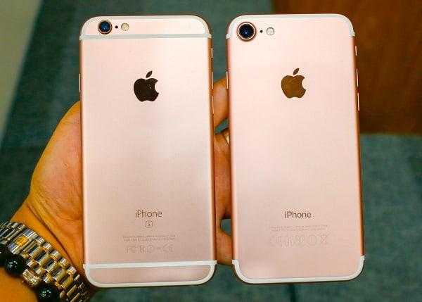 so sanh iphone 6s va 7