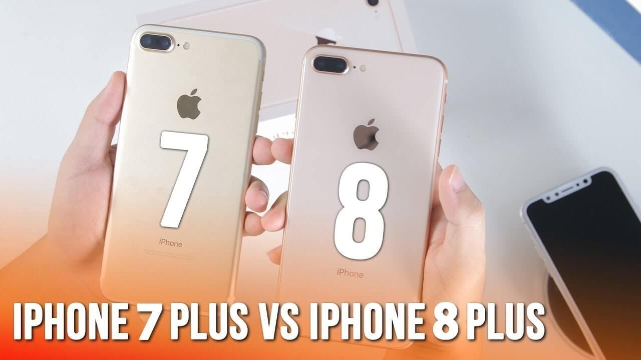 so sánh iphone 8 plus và iphone 7 plus