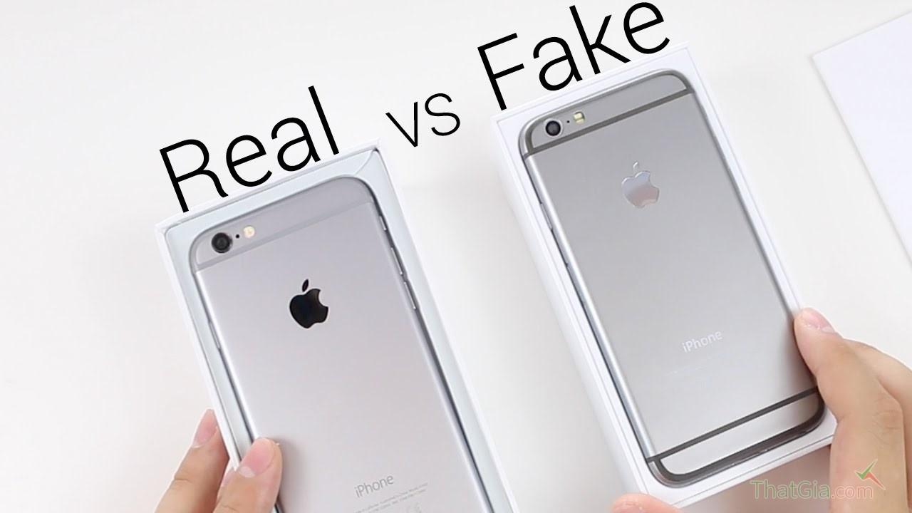 cách phân biệt iphone 6 thật và giả