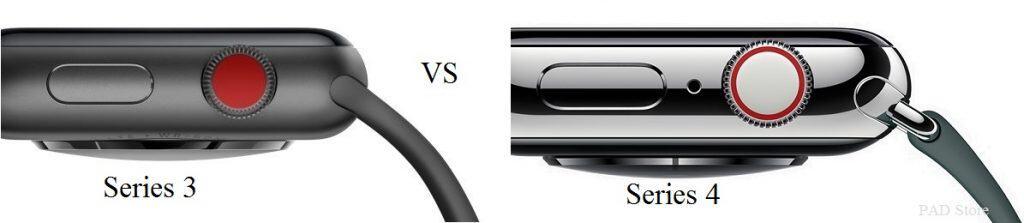 Cách phân biệt đồng hồ Apple watch series 3 và Apple watch series 4