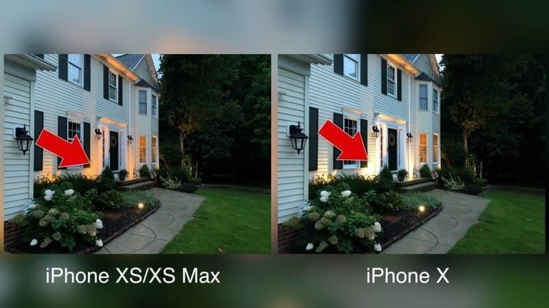 so sánh camera iphone x và iphone xs max
