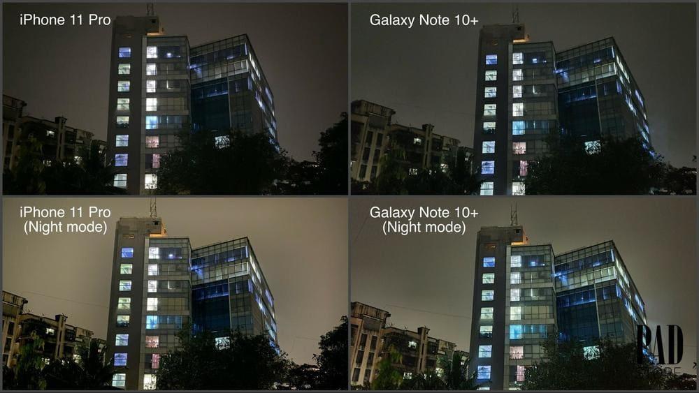 so sánh camera iphone 11 pro max
