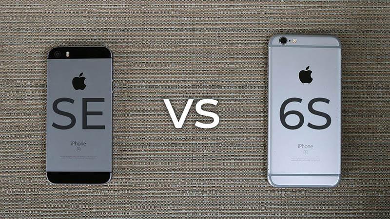so sánh iphone 6s và se