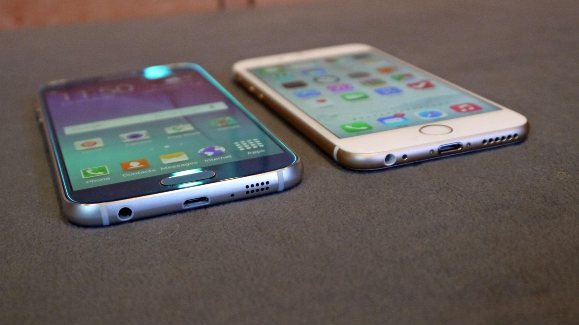 so sánh s6 và iphone 6