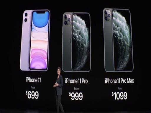 so sánh giá iPhone 11 và Pro