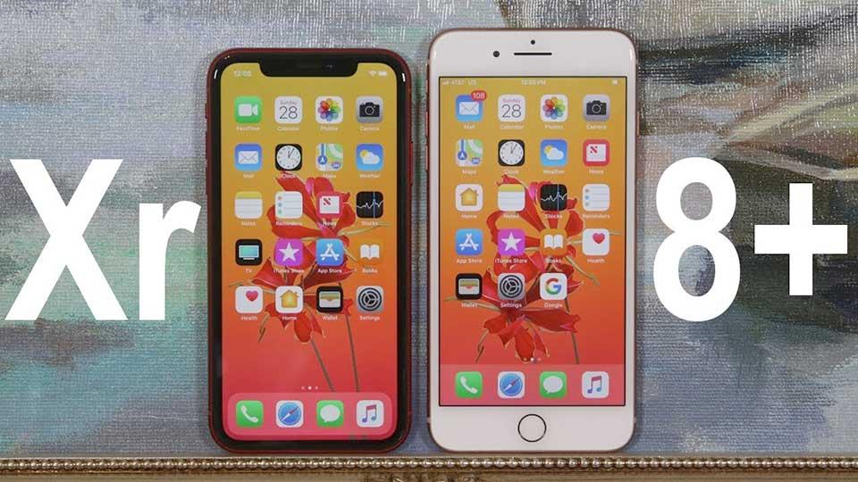 so sánh iphone xr và iphone 8 plus