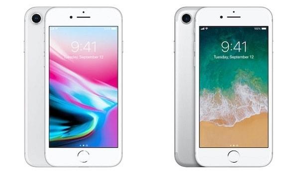 so sánh iphone 7 và iphone 8 có gì khác