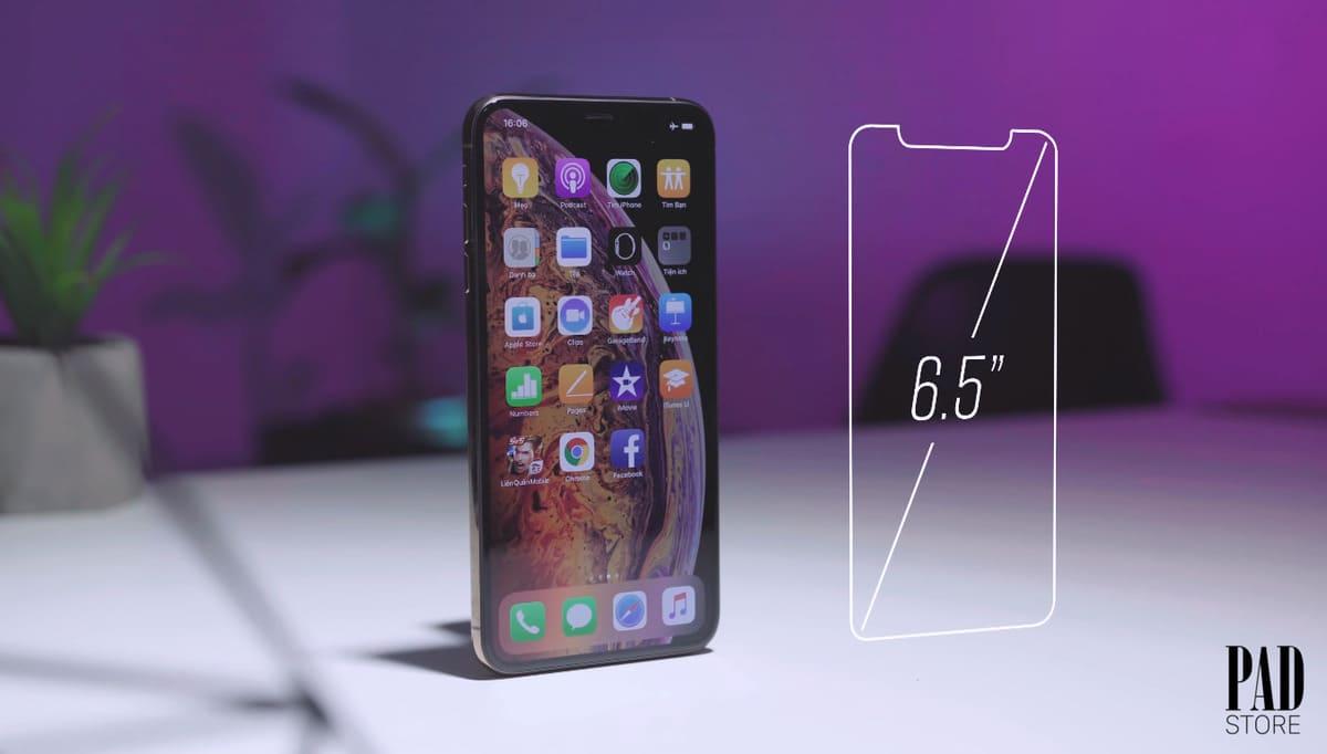 so sánh kích thươc iphone xs max