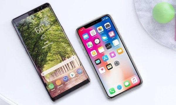 so sánh note 8 và iphone x