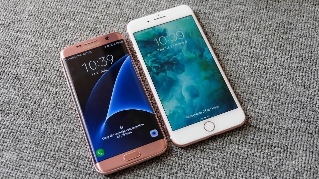 so sánh iphone 7 Plus và S7 Edge