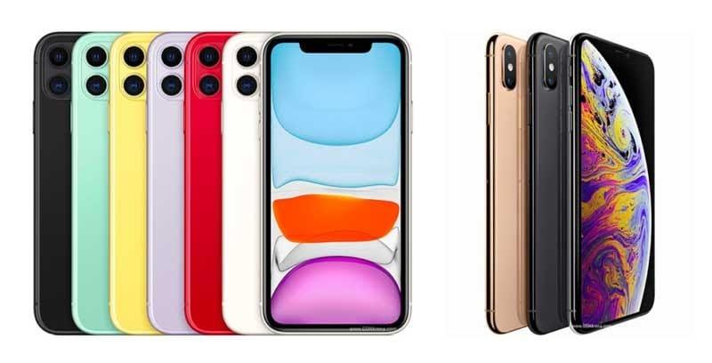 sự khác nhau trong thiết kế giữa iphone 11 và xs max