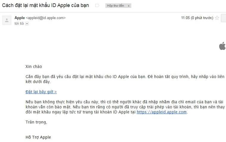 thay đổi mật khẩu id apple hiệu quả