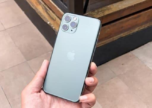 trải nghiệm iphone 11 pro max màu xanh
